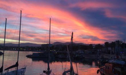La nuit tombe sur le Port du Cros